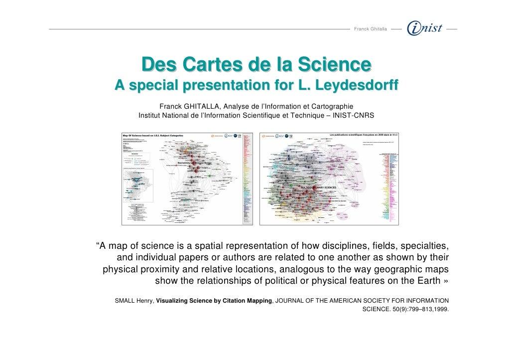 Cartes des sciences