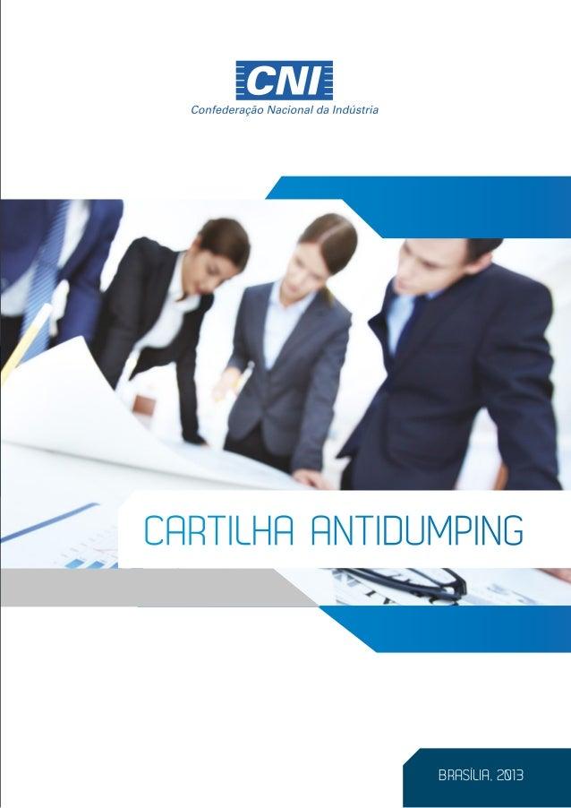 Cartilha Antidumping | Divulgação 28/02/2014