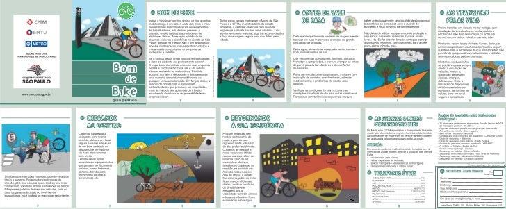 Cartilha Bom de Bike do Metrô / CPTM