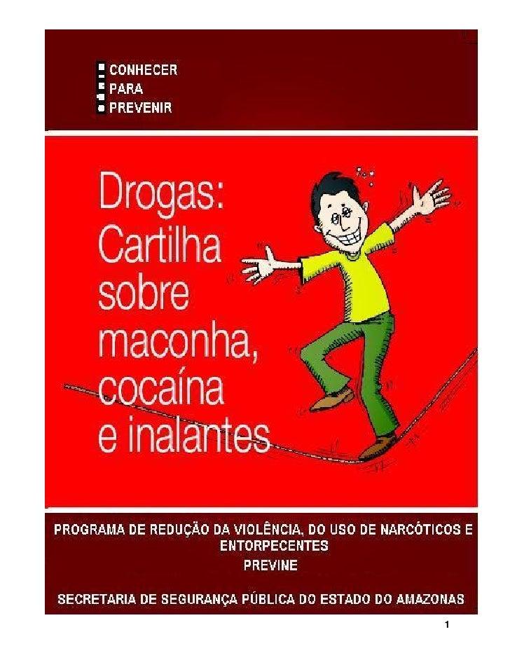 Cartilha   drogas - maconha cocaína e inalantes