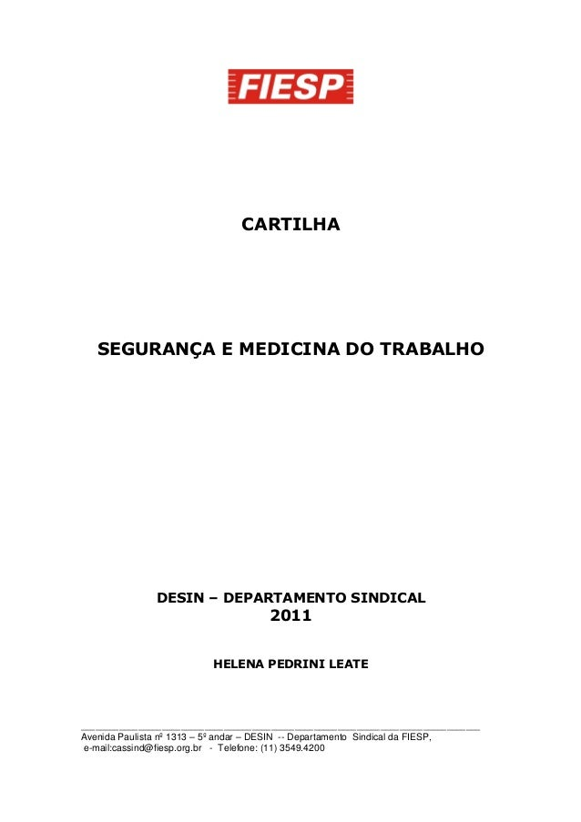 Cartilha legislacao-sst-2011