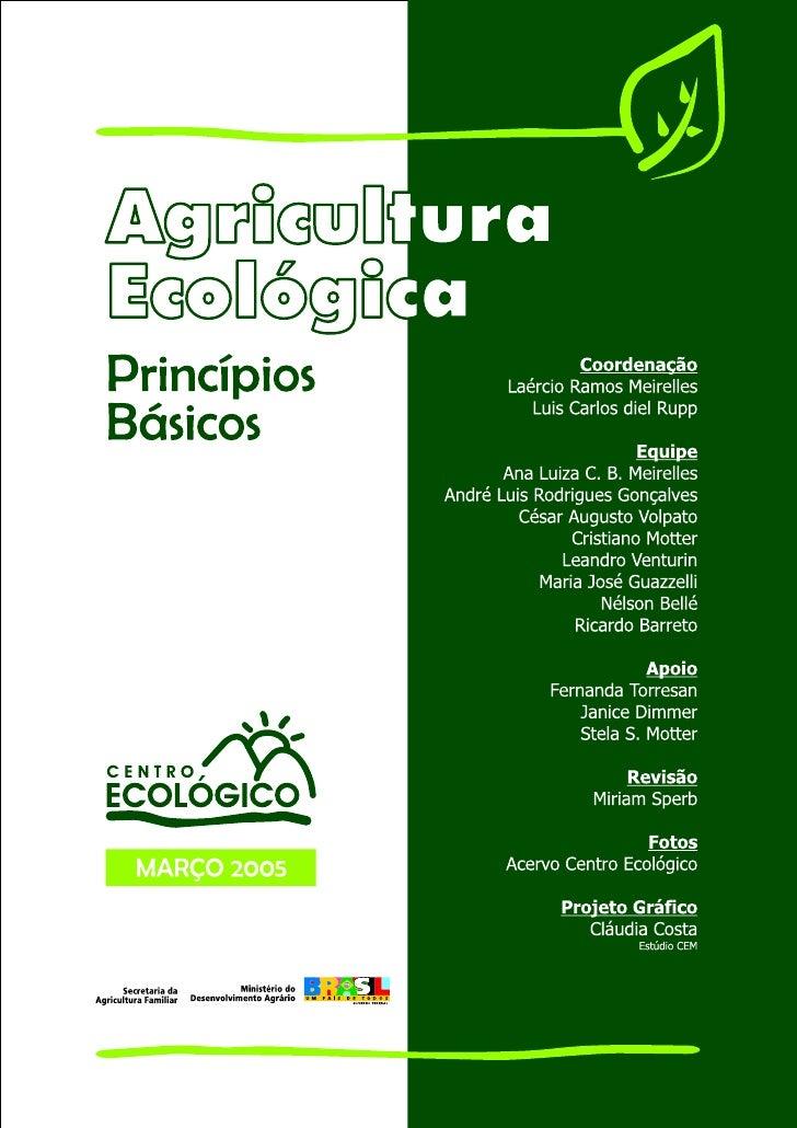 Cartilha de Agricultura Ecológica - Ecovida