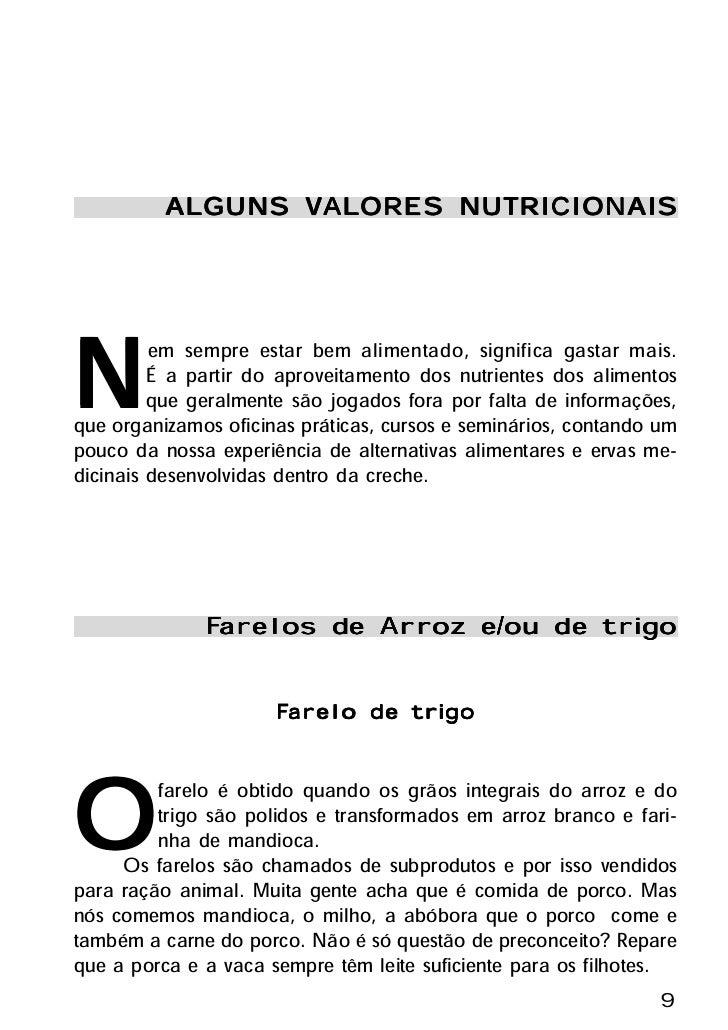 ALGUNS VALORES NUTRICIONAIS                   ALORES                  VAL     N        em sempre estar bem alimentado, sig...