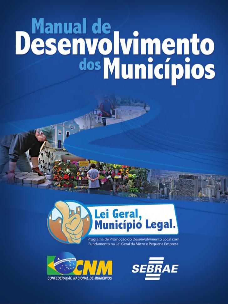 2    Manual de Desenvolvimento dos Municípios