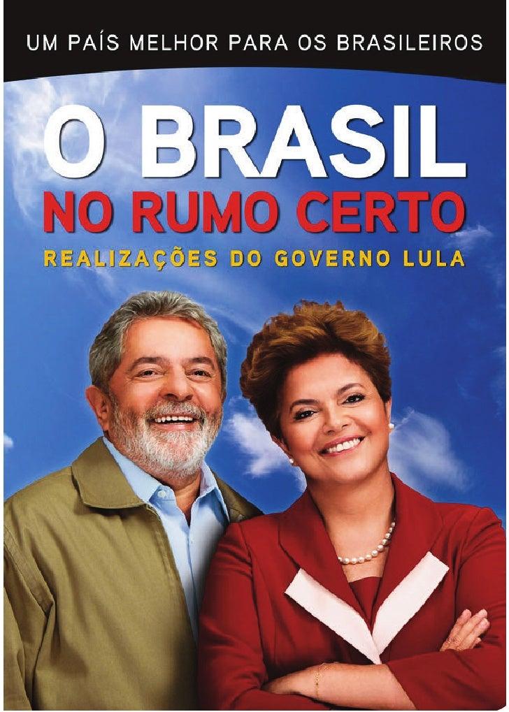 Cartilha de realizações no governo Lula