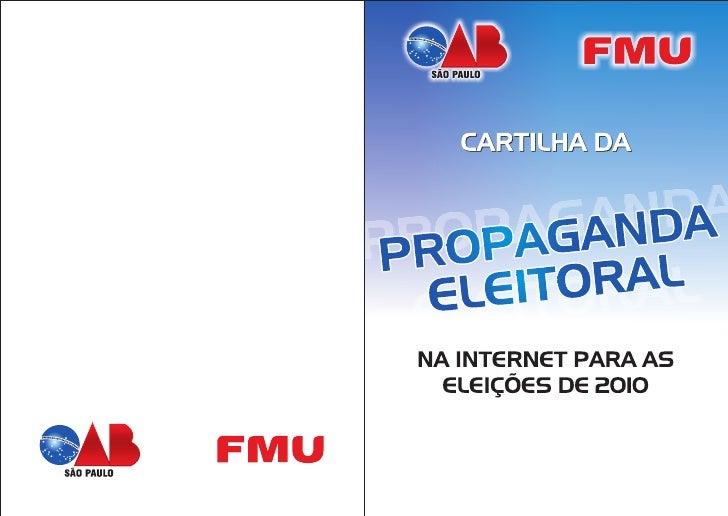 Cartilha da Propaganda Eleitoral na Internet para as Eleições de 2010