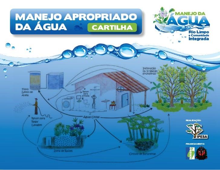 manejo apropriadoda água    cartilha                      Realização:                      Financiamento:
