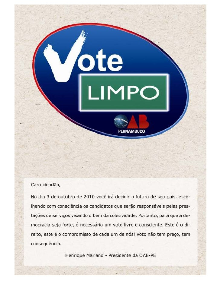 Cartilha Vote Limpo da OAB