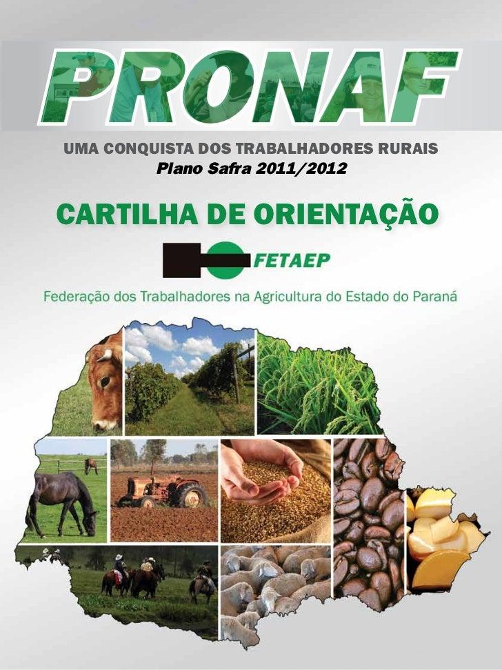 Cartilha de Orientação do PRONAF 2011/2012