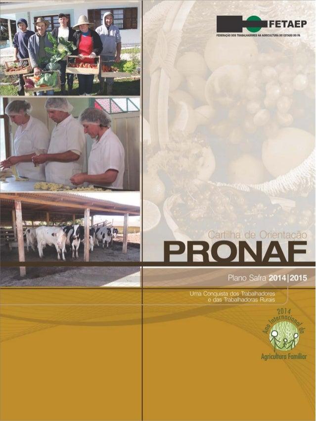 Cartilha de Orientação do PRONAF 2014/2015