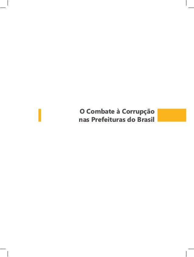 O Combate à Corrupçãonas Prefeituras do Brasil