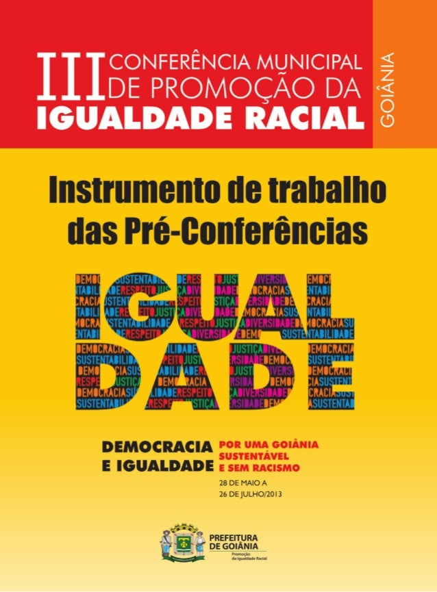 Maio/2013 Intrumento de trabalho das Pré-Conferências