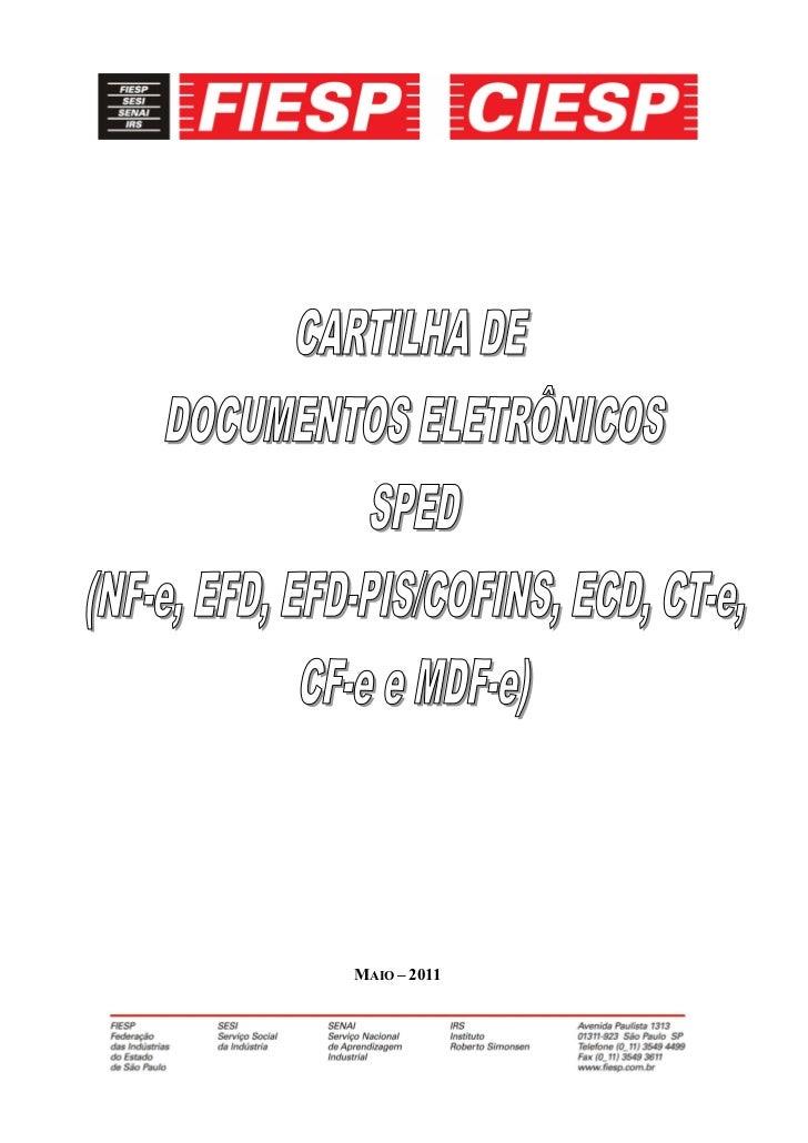 Cartilha SPED da FIESP de  maio 20112