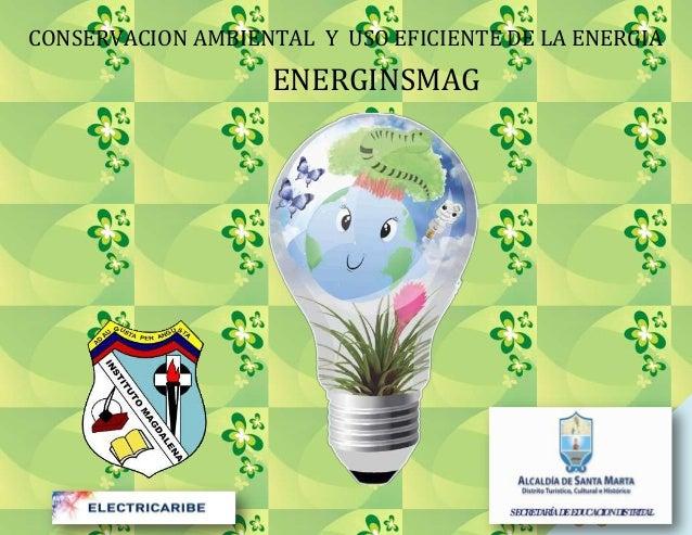 CONSERVACION AMBIENTAL Y USO EFICIENTE DE LA ENERGIA  ENERGINSMAG  1