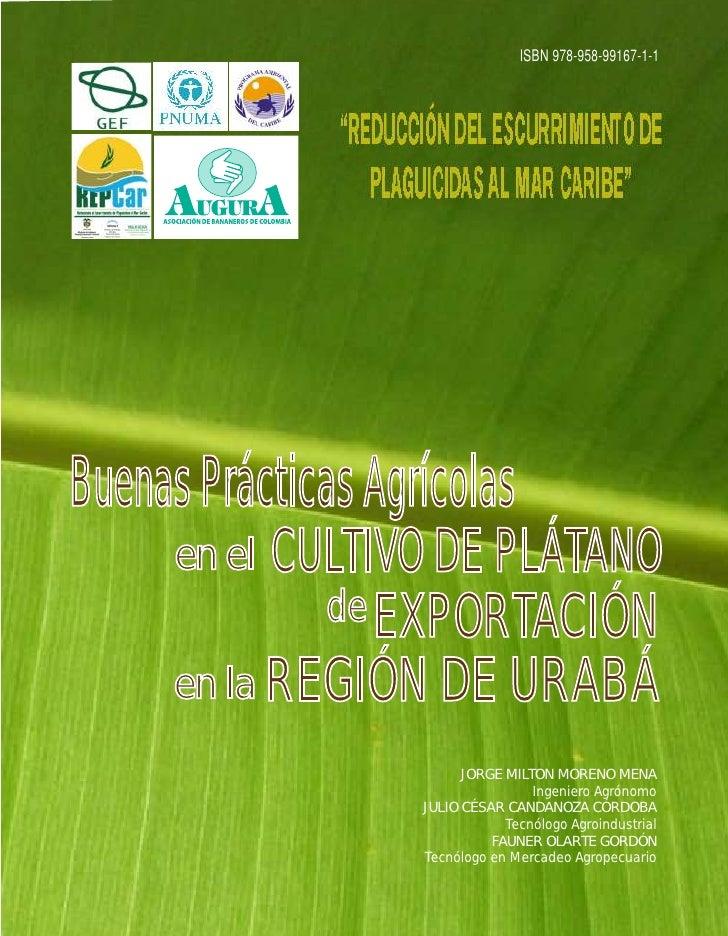 """ISBN 978-958-99167-1-1                   """"REDUCCIÓN DEL ESCURRIMIENTO DE                   PLAGUICIDAS AL MAR CARIBE""""     ..."""