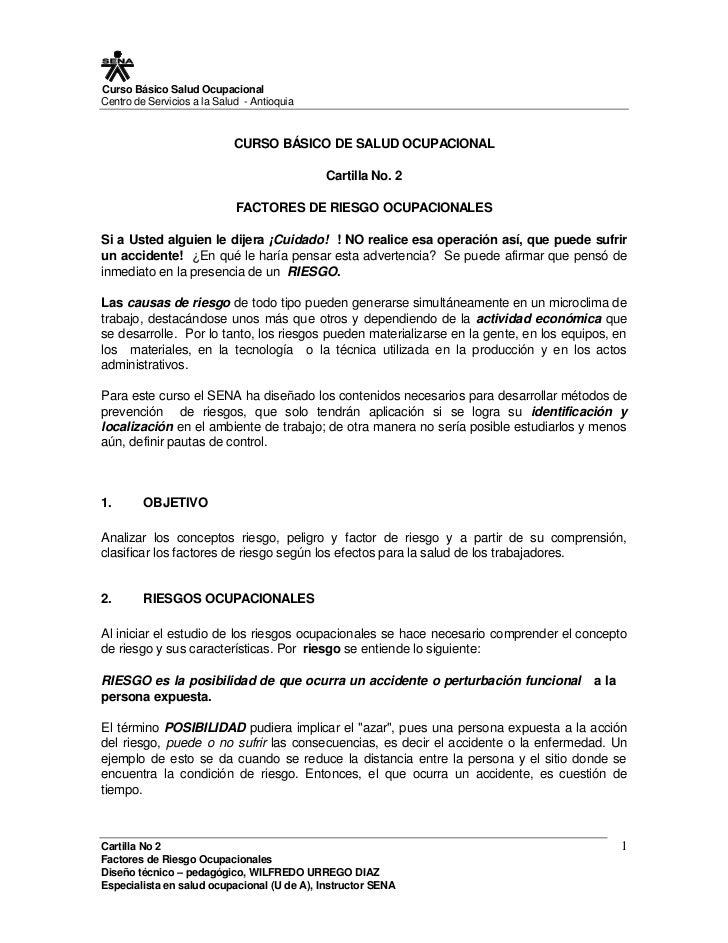 Curso Básico Salud Ocupacional Centro de Servicios a la Salud - Antioquia                               CURSO BÁSICO DE SA...