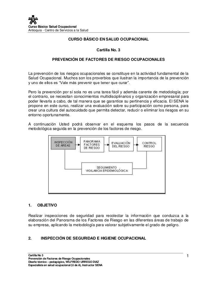 Curso Básico Salud Ocupacional Antioquia - Centro de Servicios a la Salud                                 CURSO BÁSICO EN ...
