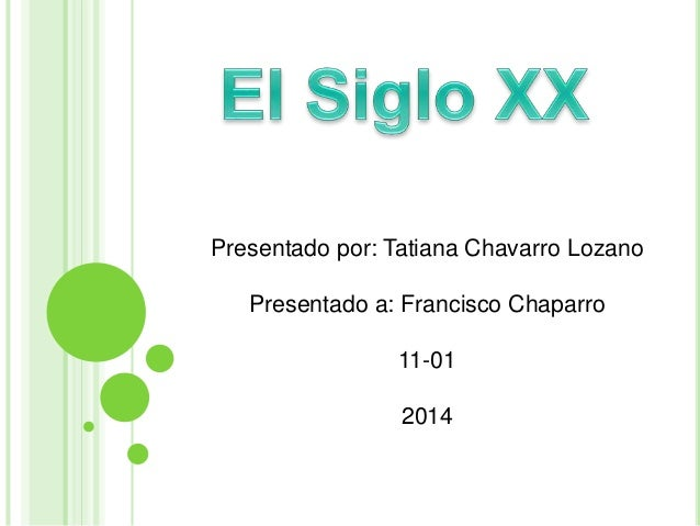 Presentado por: Tatiana Chavarro Lozano  Presentado a: Francisco Chaparro  11-01  2014