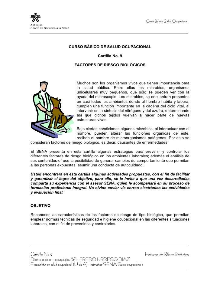 Curso Bá sico Salud OcupacionalAntioquiaCentro de Servicios a la Salud                             CURSO BÁSICO DE SALUD O...