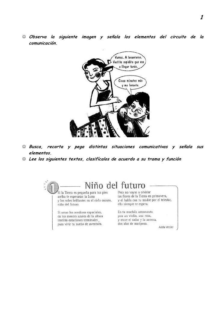 Circuito De La Comunicacion : Cartilla de actividades