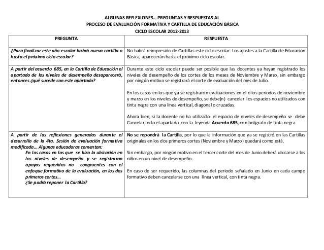 ... DE EVALUACIÓN FORMATIVA Y CARTILLA DE EDUCACIÓN BÁSICACICLO ESCOLAR