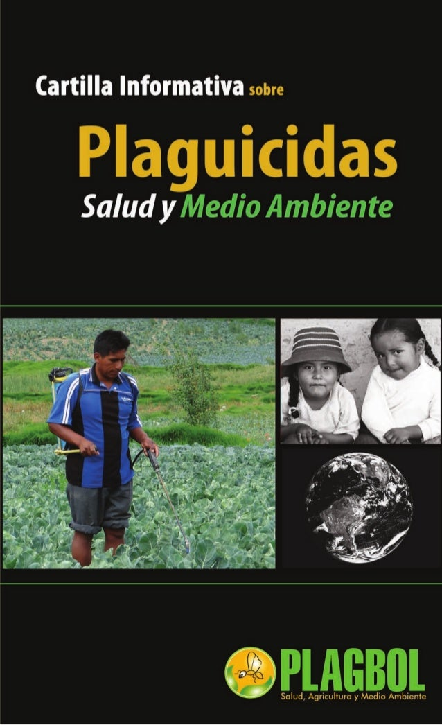 Cartilla informativa plaguicidas, salud y medio ambiente