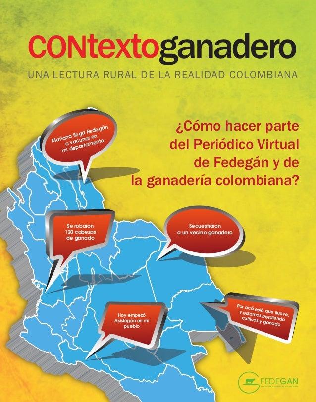CONtextoganaderoUNA LECTURA RURAL DE LA REALIDAD COLOMBIANA          a lle                    edeg                ga F n  ...