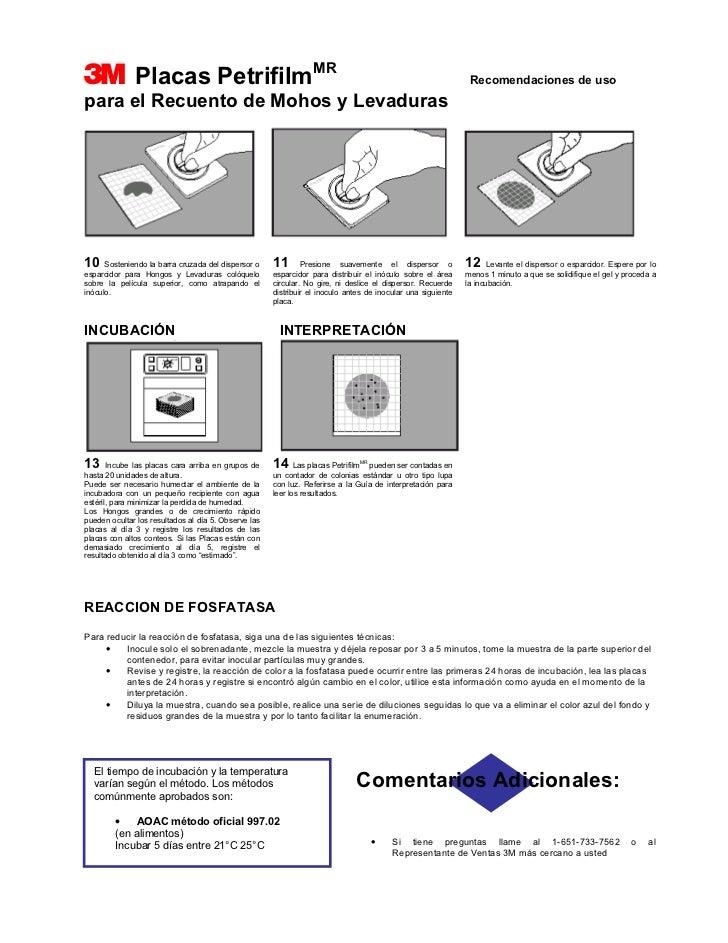 3             Placas PetrifilmMR                                                                               Recomendaci...
