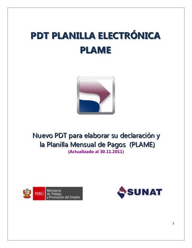 Cartilla pdt planilla_electronica_plame_301111