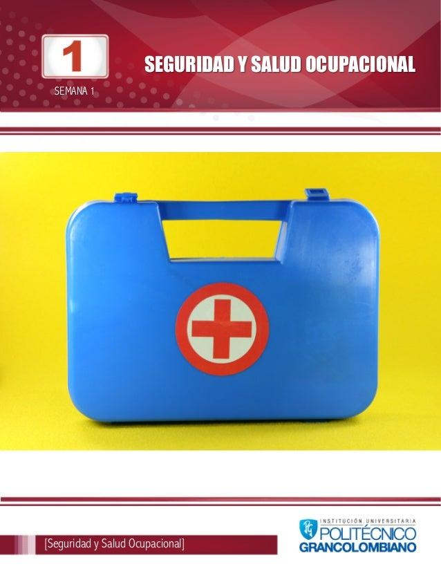 SEGURIDAD Y SALUD OCUPACIONAL  SEMANA 1  [Seguridad y Salud Ocupacional]