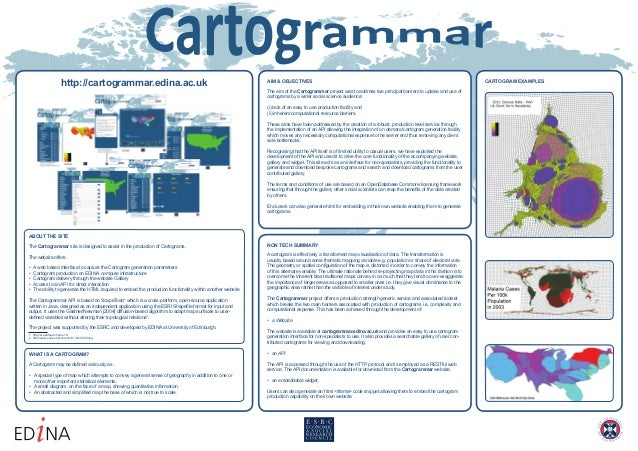 http://cartogrammar.edina.ac.uk AIM & OBJECTIVESThe aim of the Cartogrammar project was to address two principal barriers ...