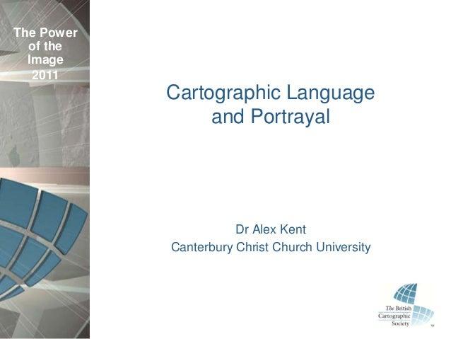Cartographic language and portrayal
