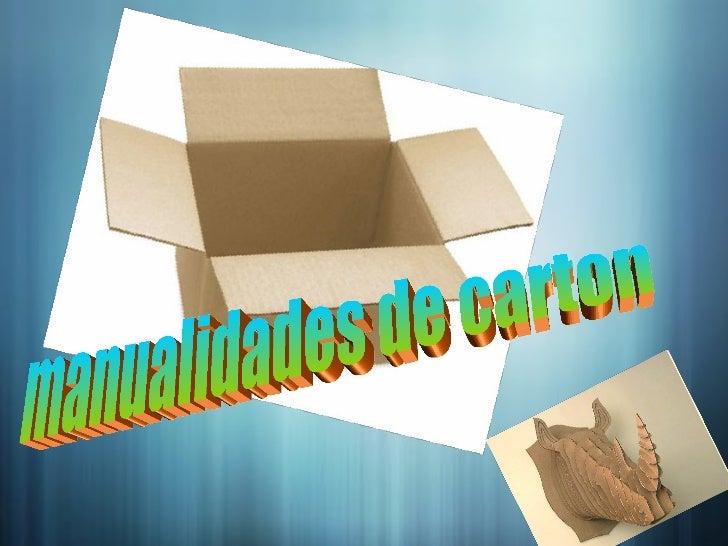 manualidades de carton