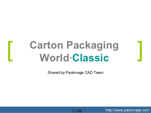 [   Carton Packaging     World·Classic                                   ]       Shared by Packmage CAD Team              ...