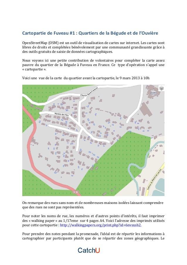 Cartopartie  de  Fuveau  #1  :  Quartiers  de  la  Bégude  et  de  l'Ouvière      OpenStreetMa...