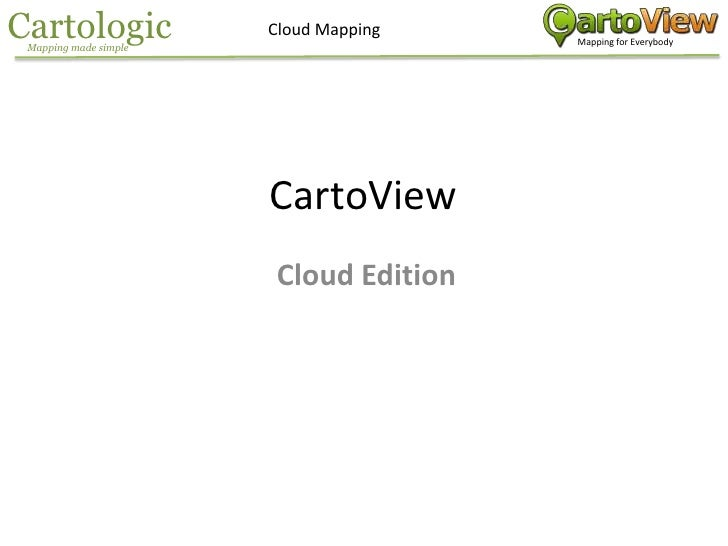 CartoView Mapping in the Cloud