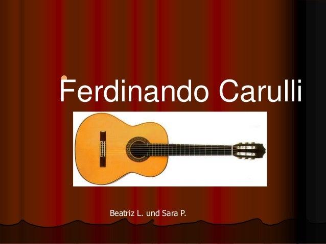  Ferdinando Carulli Beatriz L. und Sara P.