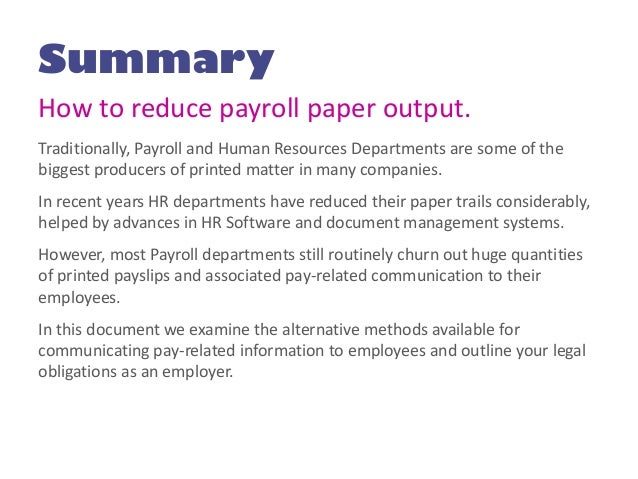 Research paper on payroll