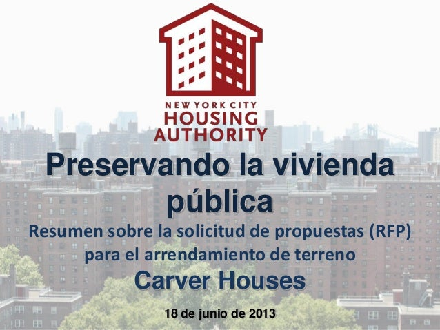 Carver Land Lease Presentation 6-18-13 (Spanish)