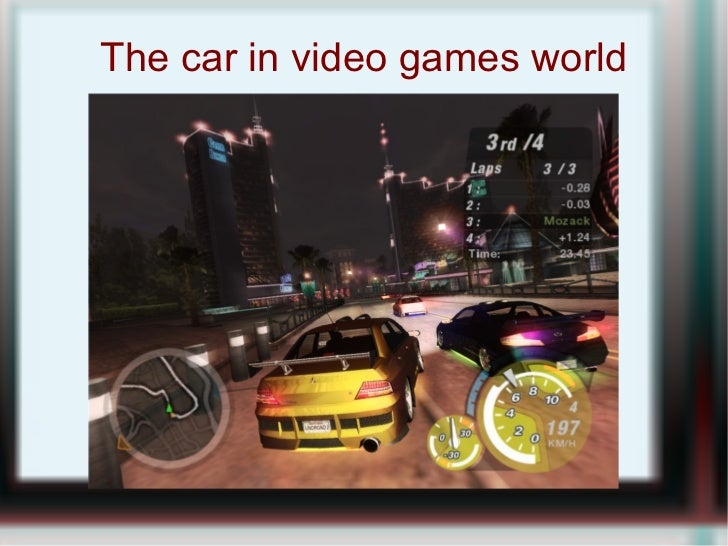 The car in video games world
