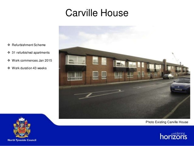 Carville House  Refurbishment Scheme  31 refurbished apartments  Work commences Jan 2015  Work duration 43 weeks Photo...