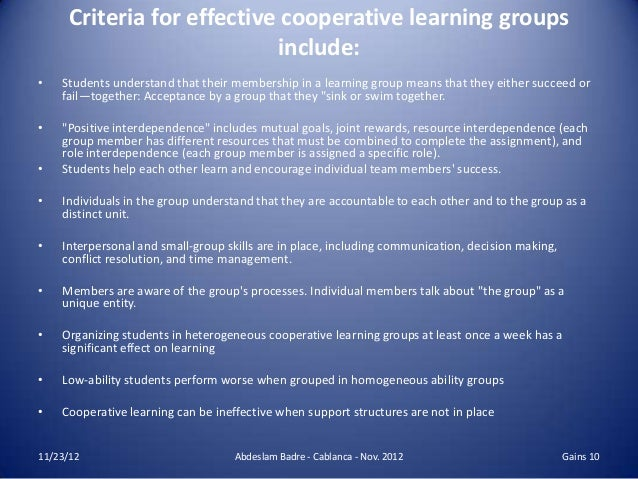 phd thesis on cooperative learning