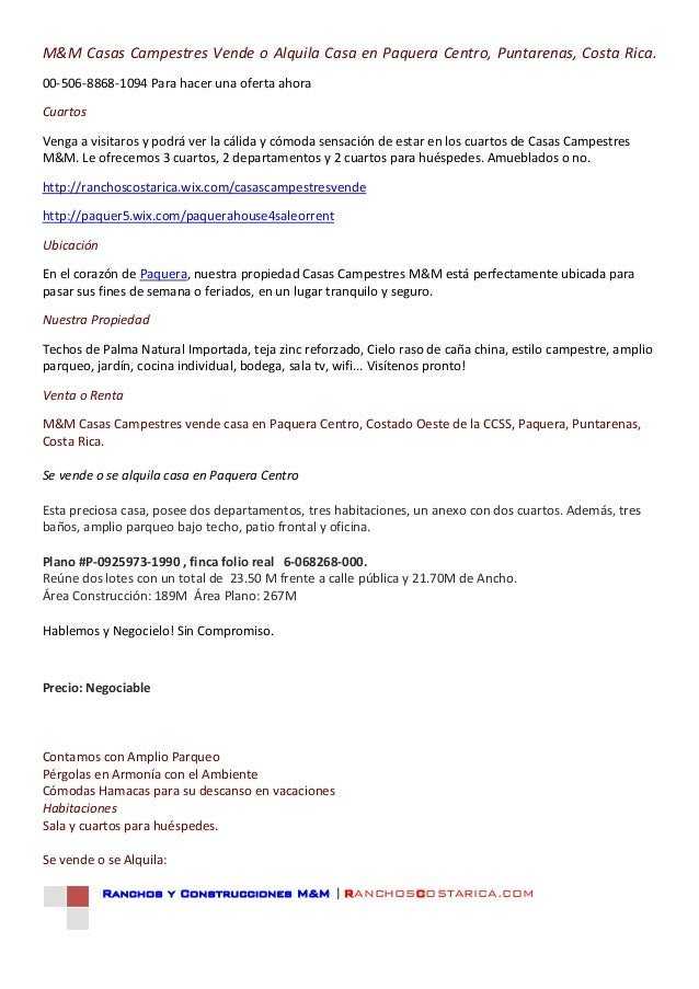Casa paquera   info venta español e ingles - copy
