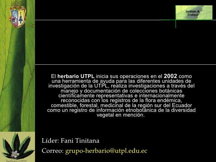 Unidad de Botánica y Etnobotánica