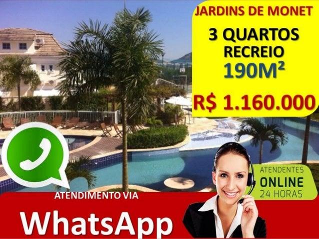 CASA 3 SUITES RECREIO • COND. JARDINS DE MONET • CASA 4 QUARTOS TRANSFORMADA EM 3 QUARTOS. • 190M² • RGI – 100% LEGALIZADO...