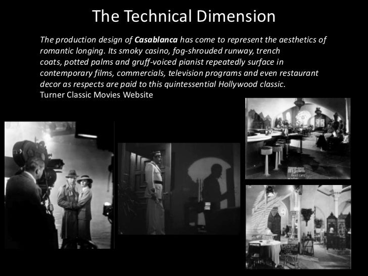 analysis of casablanca Compared to what we find in great novels and plays, the characterization in casablanca is sketchy and thin we know very little about the characters.