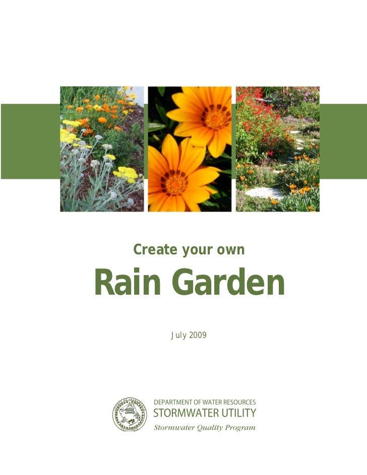CA: Sacrament County: Rain Garden Guidelines