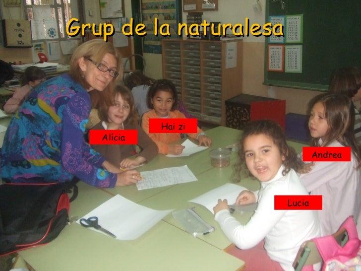 Grup de la naturalesa            Hai zi   Alícia                                Andrea                        Lucia