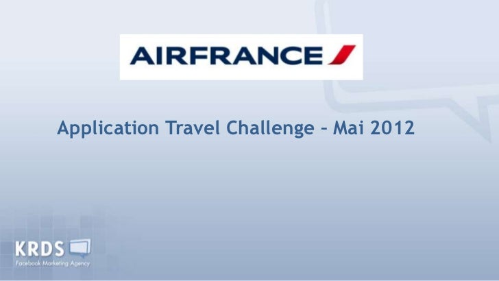 Application Travel Challenge – Mai 2012