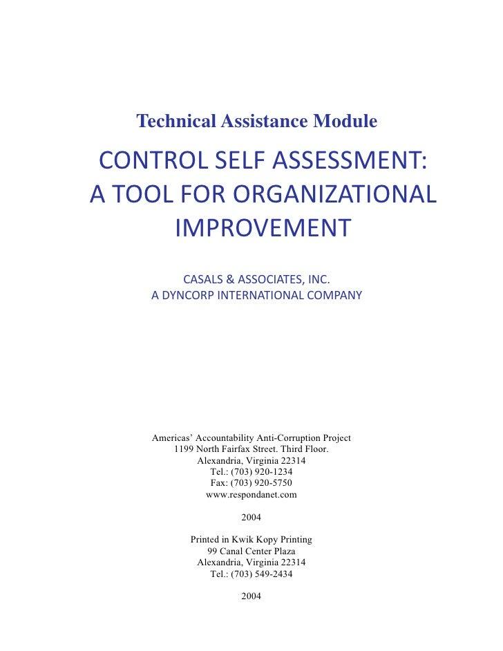 Casals ta control self assessment